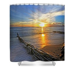 Far Out To Sea Shower Curtain