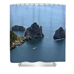 Faraglioni A Capri  Shower Curtain