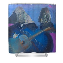 Faraglioni Serenade Shower Curtain
