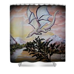Faranth Shower Curtain by Dianna Lewis