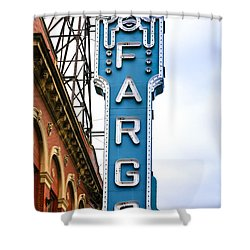 Fargo Blue Theater Sign Shower Curtain