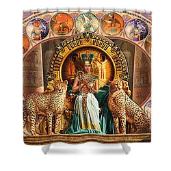 Farley Egyptian Triptych Shower Curtain by Andrew Farley