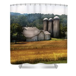 Farm - Barn - Home On The Range Shower Curtain by Mike Savad