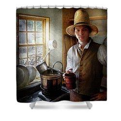 Farm - Farmer - The Farmer Shower Curtain by Mike Savad