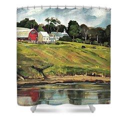 Farm At Four Corners Shower Curtain