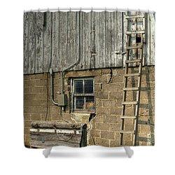Farm Cat In Barn Shower Curtain