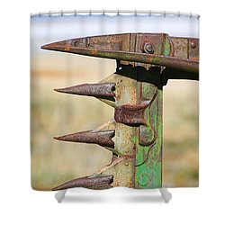 Shower Curtain featuring the photograph Farm Equipment 1 by Ely Arsha