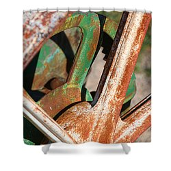 Shower Curtain featuring the photograph Farm Equipment 2 by Ely Arsha