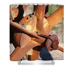 Shower Curtain featuring the photograph Farm Equipment 3 by Ely Arsha