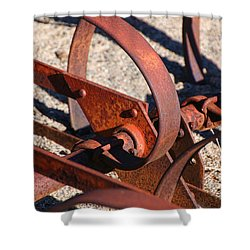 Shower Curtain featuring the photograph Farm Equipment 4 by Ely Arsha