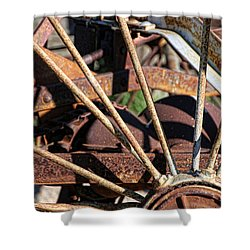 Shower Curtain featuring the photograph Farm Equipment 5 by Ely Arsha