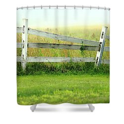 Farm Fence Shower Curtain