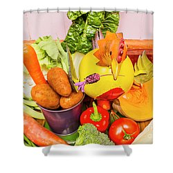 Farm Fresh Produce Shower Curtain by Jorgo Photography - Wall Art Gallery