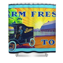 Farm Fresh To You  Shower Curtain