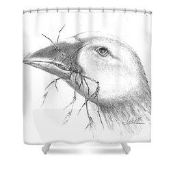 Farm Goose Shower Curtain