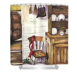 Shower Curtain featuring the painting Farm House by Darren Cannell