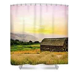 Twilight At The Okanagan Farm House Canada Shower Curtain