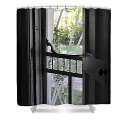 Farm House Screen Door Shower Curtain