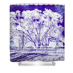 Farm In Suburbia With Wildcat Flare Shower Curtain