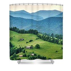 Farm In The Mountains - Romania Shower Curtain