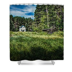 Farm In The Woods Shower Curtain