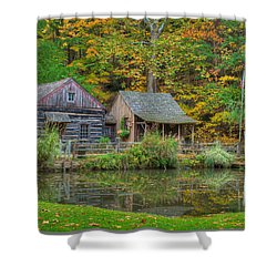 Farm In Woods Shower Curtain
