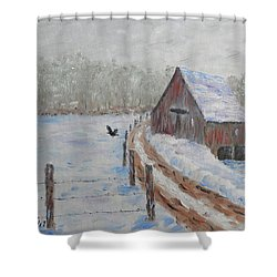Farm Land Shower Curtain by Stanton Allaben