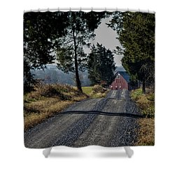 Shower Curtain featuring the photograph Farm Lane by Robert Geary