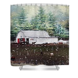 Shower Curtain featuring the photograph Farm Life by Darren Fisher