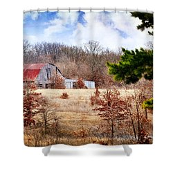 Shower Curtain featuring the photograph Farm Life by Marty Koch