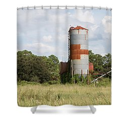 Farm Life - Retired Silo Shower Curtain by Christopher L Thomley