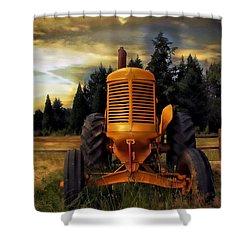 Farm On Shower Curtain by Aaron Berg