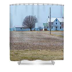 Farm On The Bay Shower Curtain