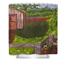 Farm Painting Shower Curtain
