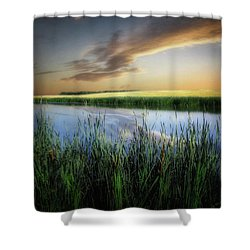 Farm Pond Shower Curtain