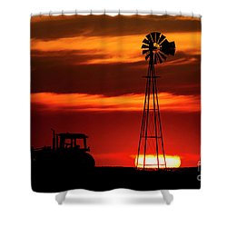 Farm Silhouettes Shower Curtain