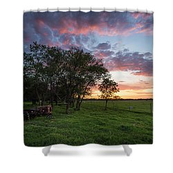 Farm View  Shower Curtain