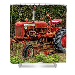 Shower Curtain featuring the photograph Farmall Cub by Christopher Holmes