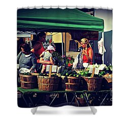 Farmers Market Produce  Shower Curtain
