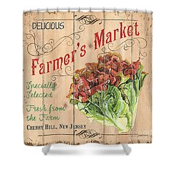 Farmer's Market Sign Shower Curtain by Debbie DeWitt