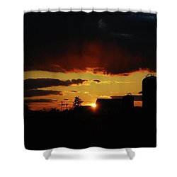 Farmer's Sunset Shower Curtain