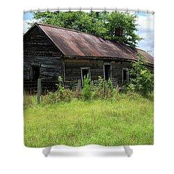 Shower Curtain featuring the photograph Farmhouse Abandoned by Doug Camara