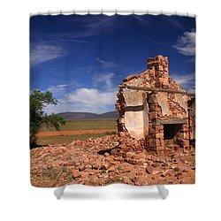 Farmhouse Cottage Ruin Flinders Ranges South Australia Shower Curtain