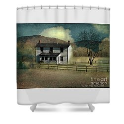 Farmhouse Shower Curtain by Kathy Russell