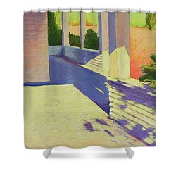 Farmhouse Porch Shower Curtain by Mary McInnis