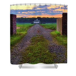 Farmhouse Sunrise - Arkansas - Landscape Shower Curtain by Jason Politte