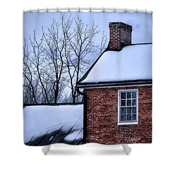 Shower Curtain featuring the photograph Farmhouse Window by Robert Geary