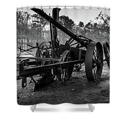 Shower Curtain featuring the photograph Farming Equipment by Doug Camara