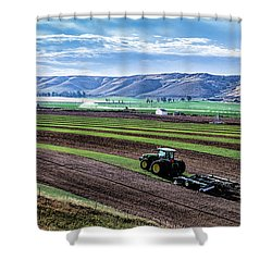 Farming In Pardise Agriculture Art By Kaylyn Franks Shower Curtain