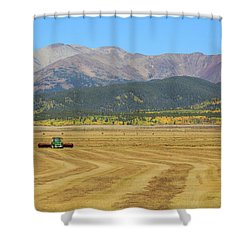 Farming In The Highlands Shower Curtain by David Chandler